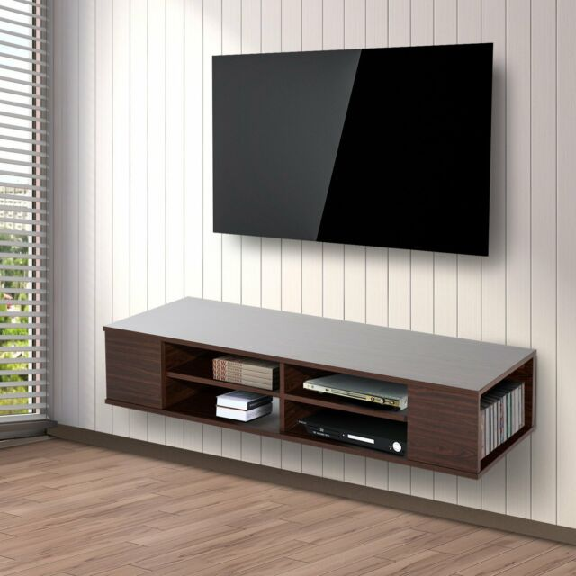Floating Tv Stand Homcom Floating Tv Stand Cabinet Wall Mounted