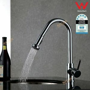 Kitchen Sink Basin Laundry Faucet Pull Out Spray Mixer Tap