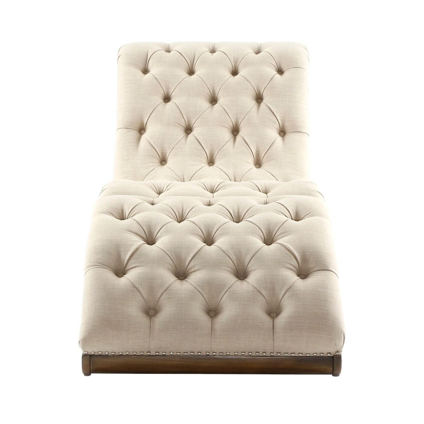 Chaise Lounge Chair Modern Tufted Chaise Lounge Chair Ottoman Beige Modern Bed