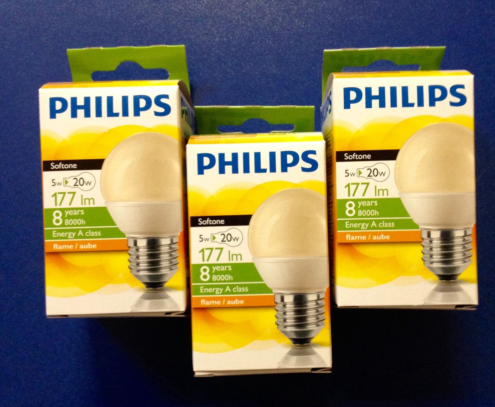 Philips Softone Flame Lighting Philips Energy Softone Flame Economy In Drop Shaped E27 5w