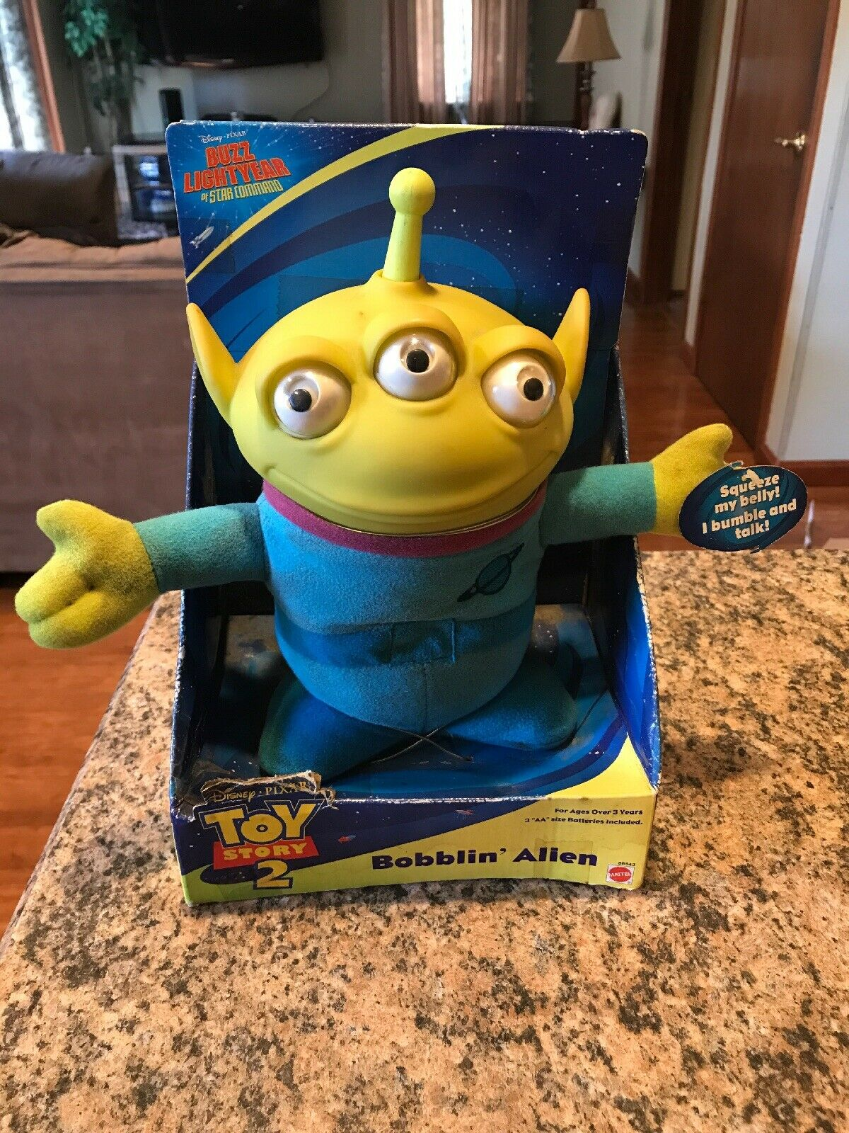 Toy Story Toys Vintage Vintage 2000 Toy Story 2 Mattel Bobblin Alien Squeeze Belly Bumble Talk New