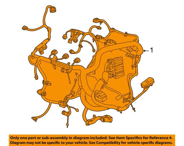 2016 Camaro SS Lt1 Manual Transmission Main Engine Wiring Harness 23385107