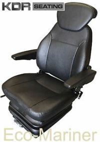 Value Pilot Chair Boat Helm Seat With Armrests PVC Trim ...