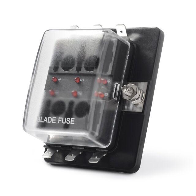 Mictuning LED Illuminated Automotive Blade Fuse Holder Box 6circuit