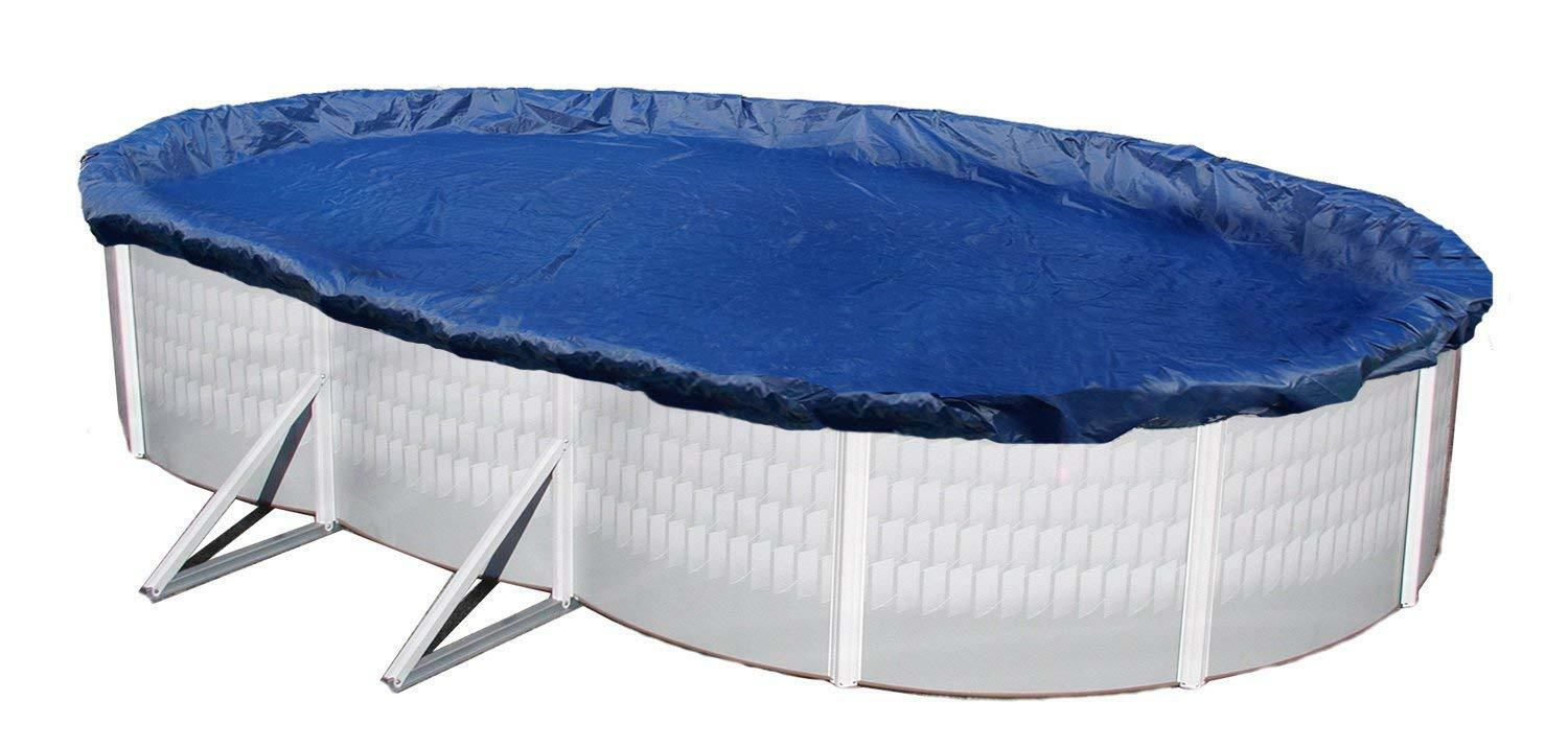 Above Ground Pool Winter Cover Blue Wave Gold 15 Ft X 30 Ft Oval Above Ground Pool Winter Cover S4