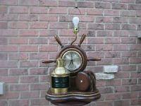 Vintage COLLECTIBLE NAUTICAL TABLE LAMP CLOCK LANTERN ...