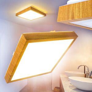 √ LED Deckenlampe Badezimmer Holzoptik Eckig Feuchtraum
