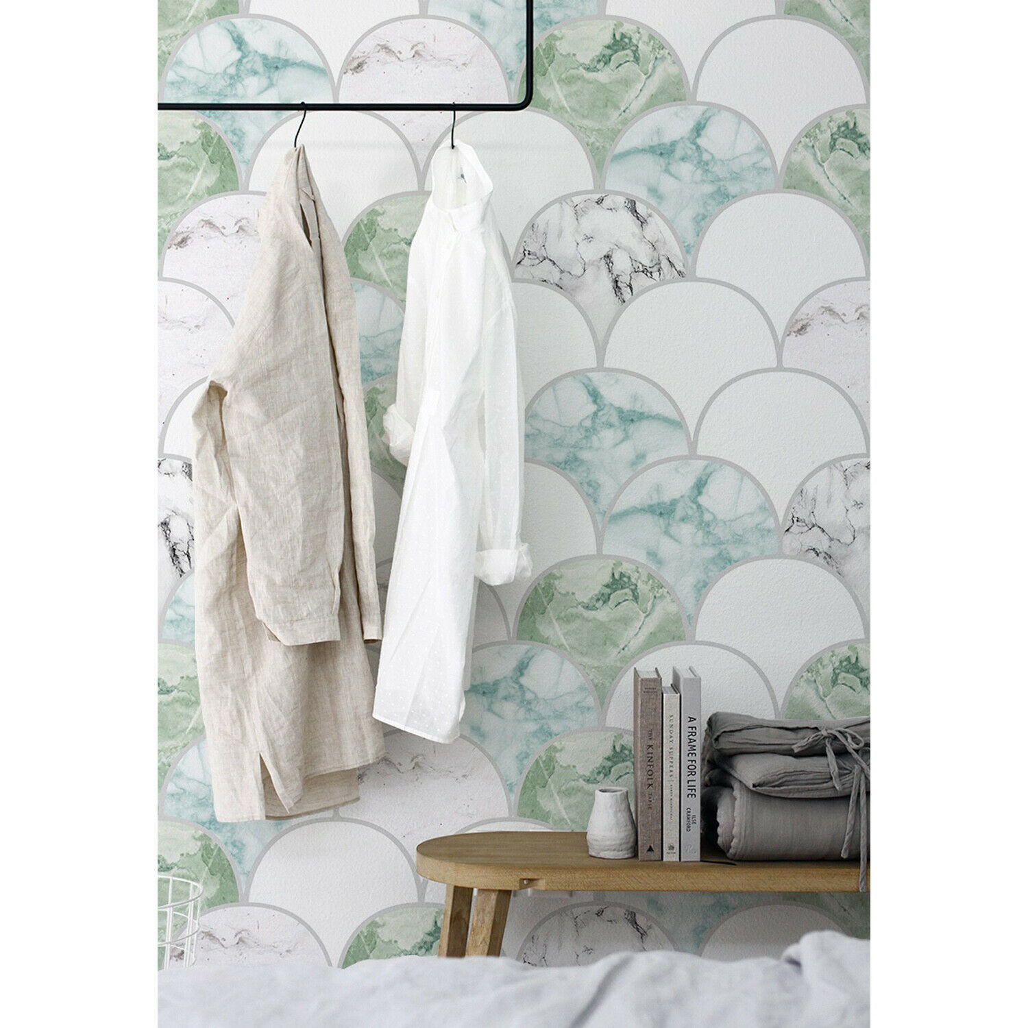 Décoration Murale Adhésive Green Marble Marble Marble Removable Wallpaper Self Adhesive Wall