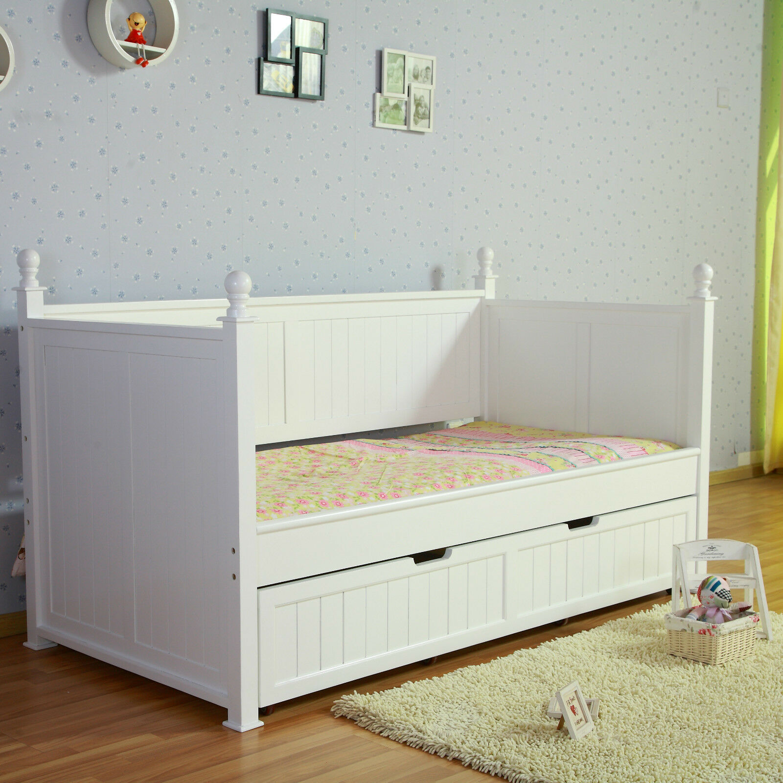 Single Day Bed Kids European Design Siesta White Nz Pine Girls Princess