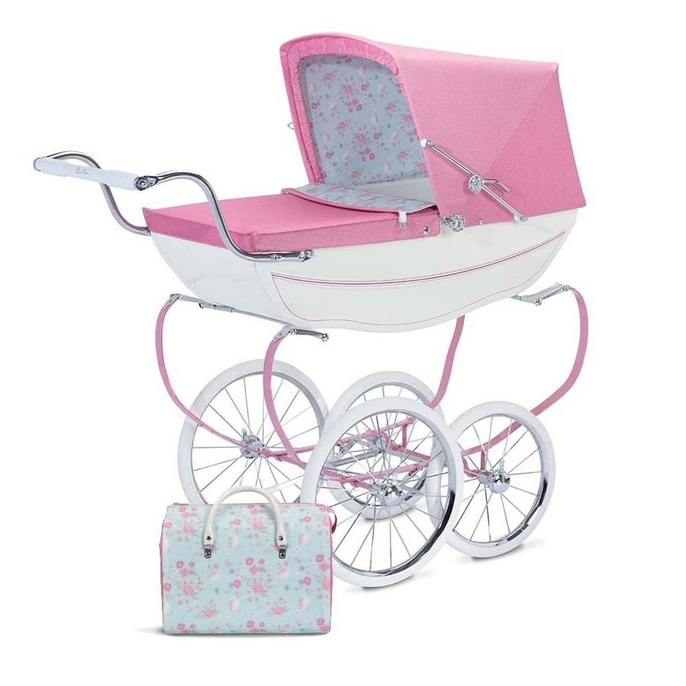 Silver Cross Pushchairs On Ebay Silver Cross Dolls Pram Floral Blossom Pink With Changing Bag Brand New Boxe