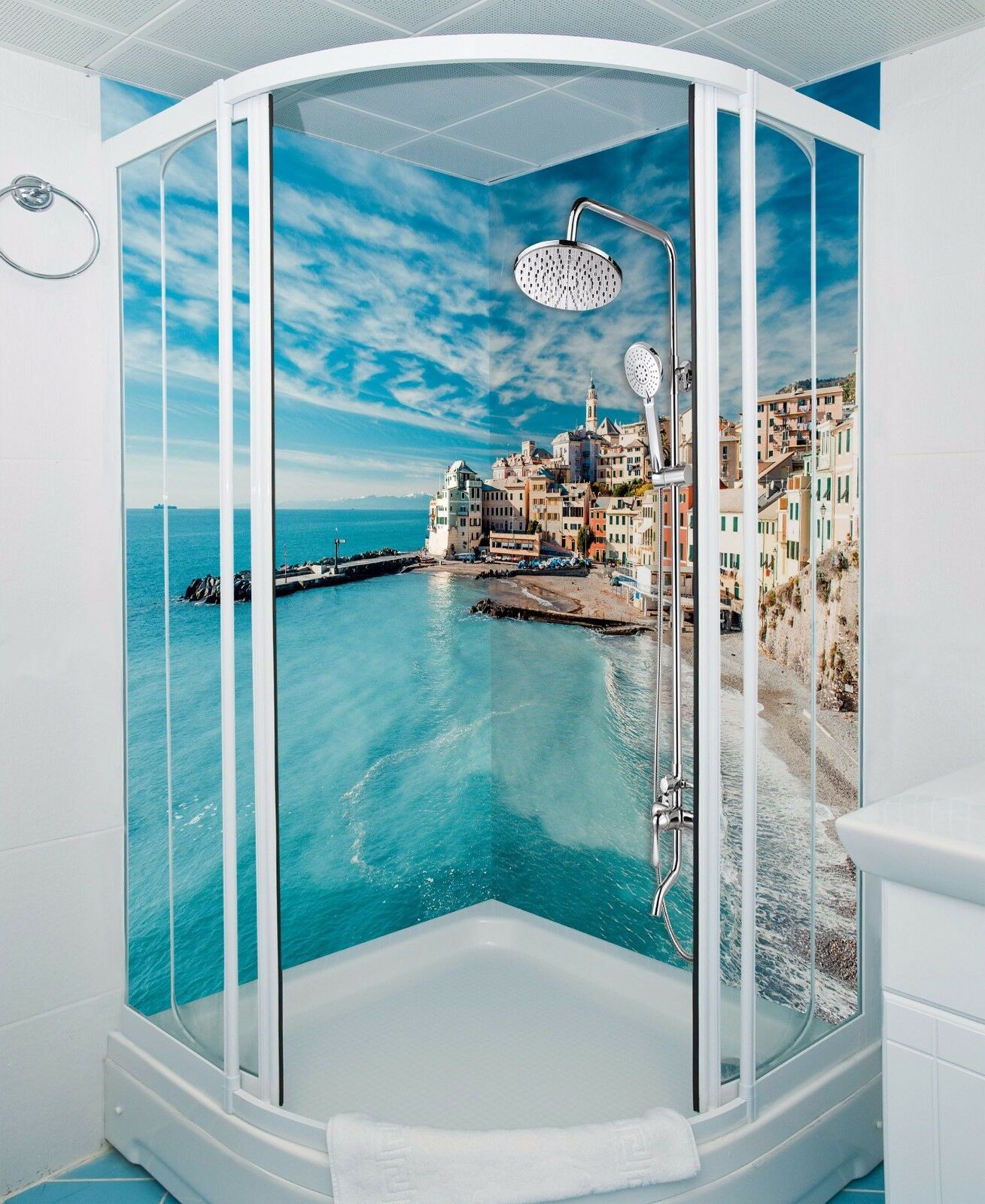 Wallpaper Murals For Bathrooms 3d Coastal 758 Bathroom Print Decal Wall Deco Aj Wallpaper Au