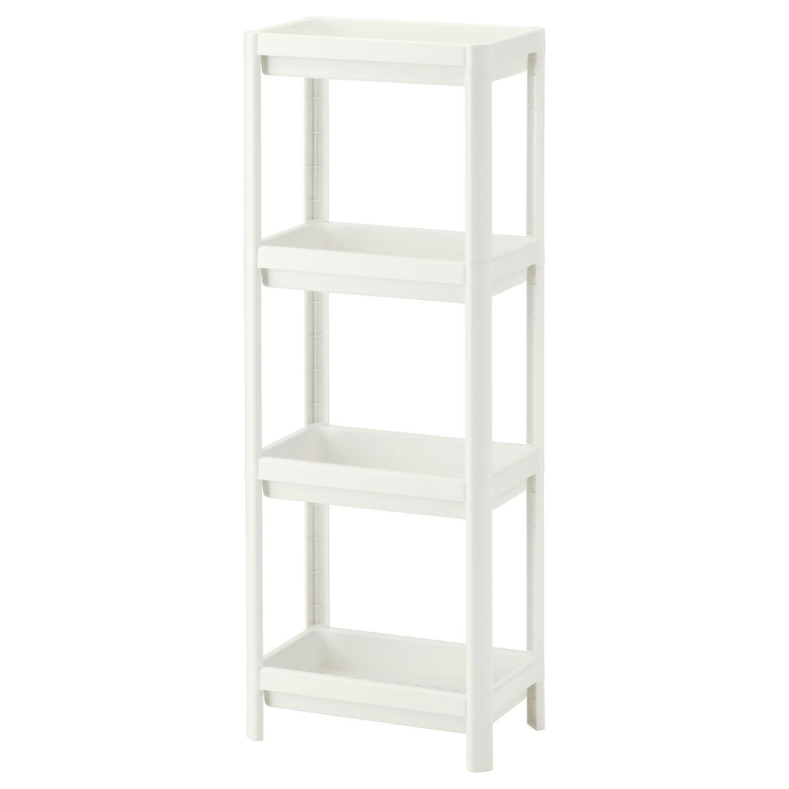 Ikea Vesken Ikea Vesken 4 Tier Bathroom Shelf Unit Small Storage White