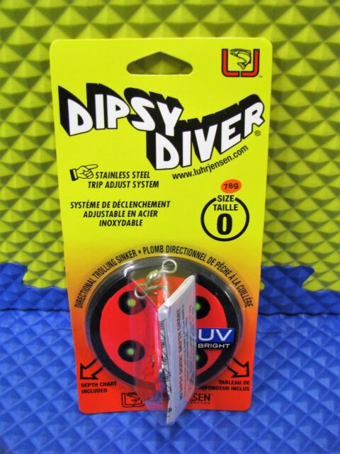 Auction #15 3 Each Luhr Jensen Dipsy Diver Size 0 5560-000-1603 Red