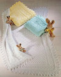 Lacy Baby Shawl/ Blanket Knit in 3 Ply 4 Ply or DK ...