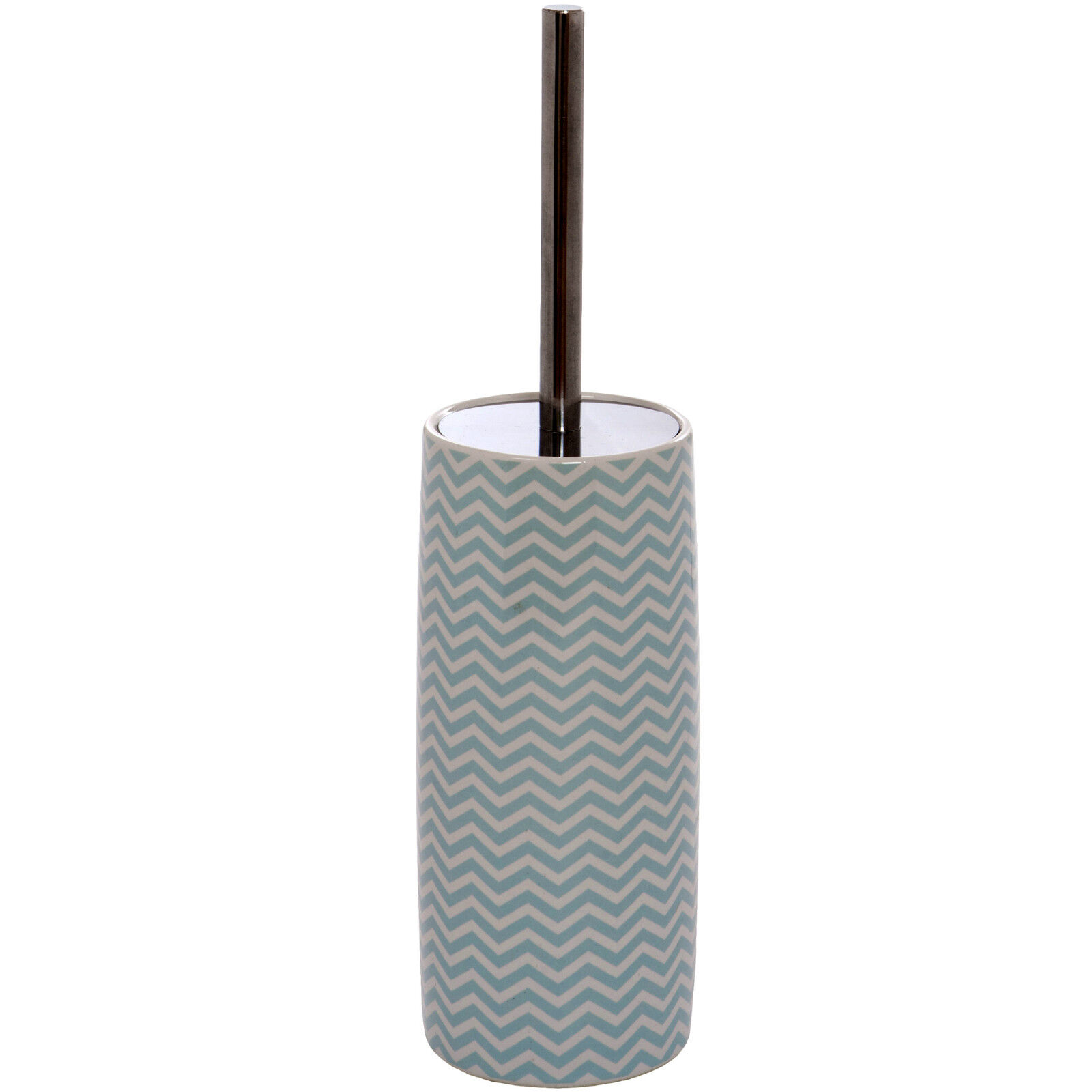 Ceramic Toilet Brush Holder Ceramic Toilet Brush And Holder Set White Turquoise Chrome