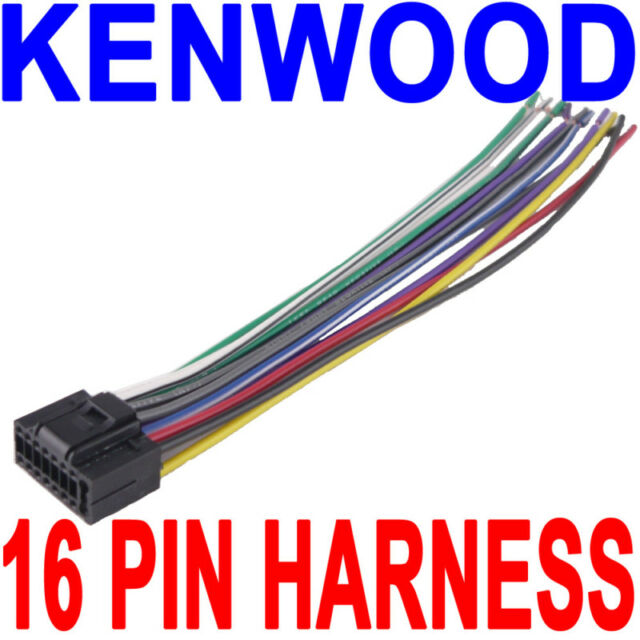 Kenwood Wire Wiring Harness 16 Pin CD Radio Stereo for sale online