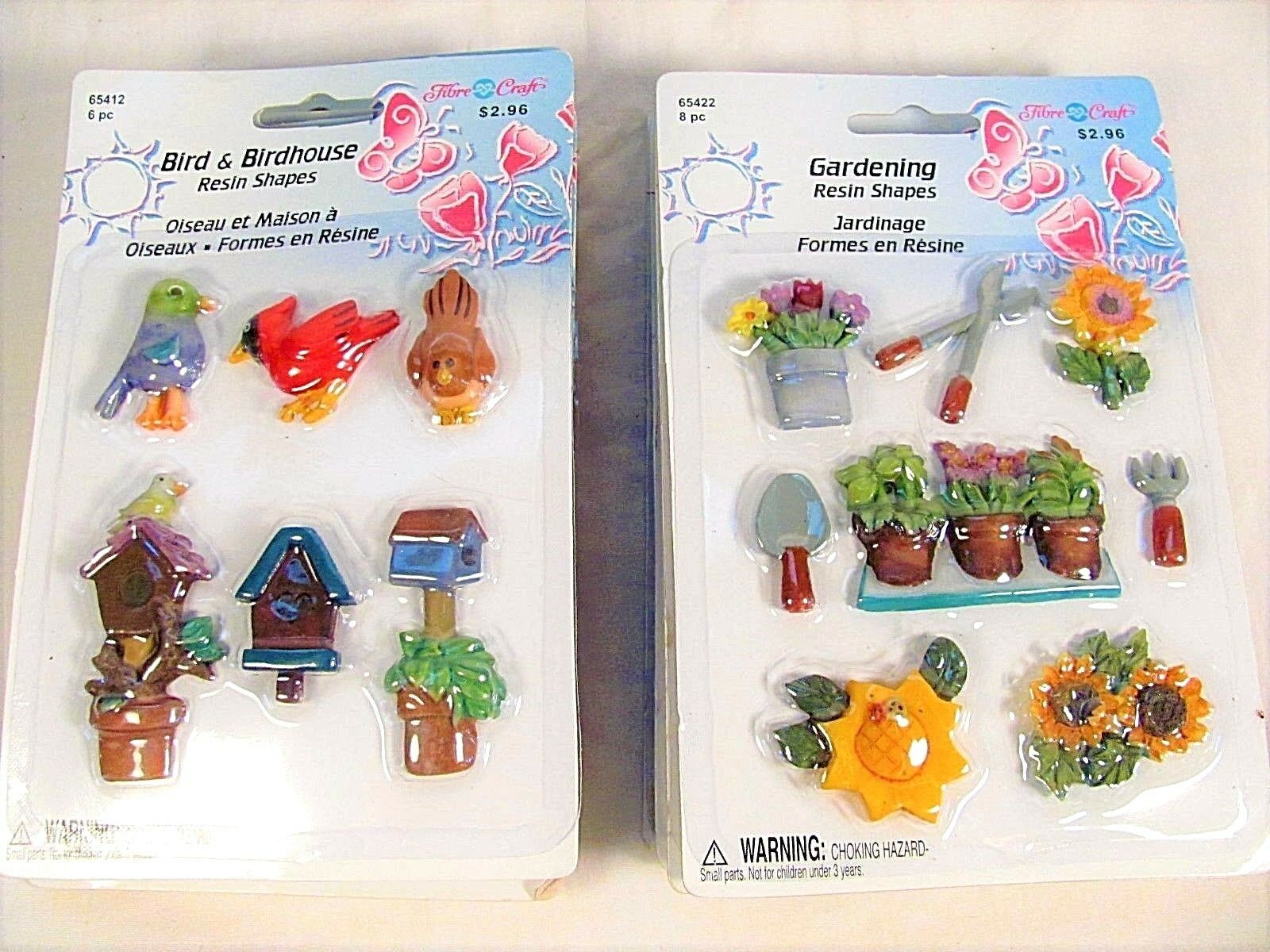 Art Decorating And Crafting 8 Packages Fibre Craft Resin Plastic Crafting Pieces Decorating