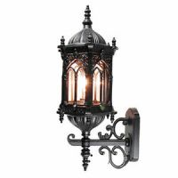 TP Outdoor Lighting Medieval Style Matt Outdoor Black Wall