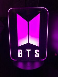 Cute Ballet Wallpapers Bts New Logo Army Kpop 3d Color Changing Led Night Light