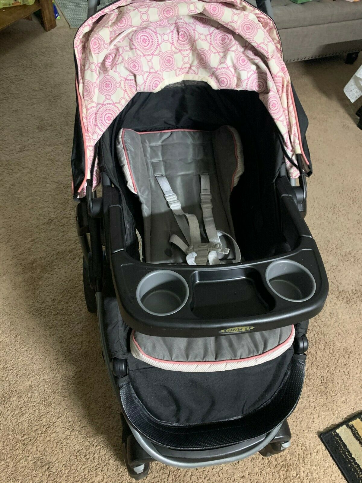 Stroller Travel System Ebay Graco Modes Click Connect Davis Travel System Stroller Car Seat Pink Gray