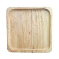 Natural Wood Plate Square Wooden Plates New Handmade Food ...