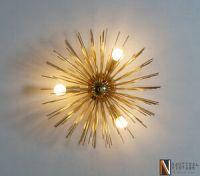 Mid century Sputnik Wall Sconce Light - 3 Bulbs Brass ...
