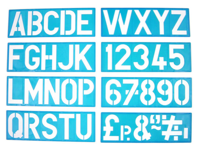 100mm Alphabet Stencil Signwriting Upper Case Numbers eBay
