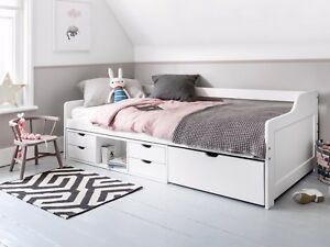 Cabin Bed Day Bed Eva In White Kids Bed Childrens Bunk