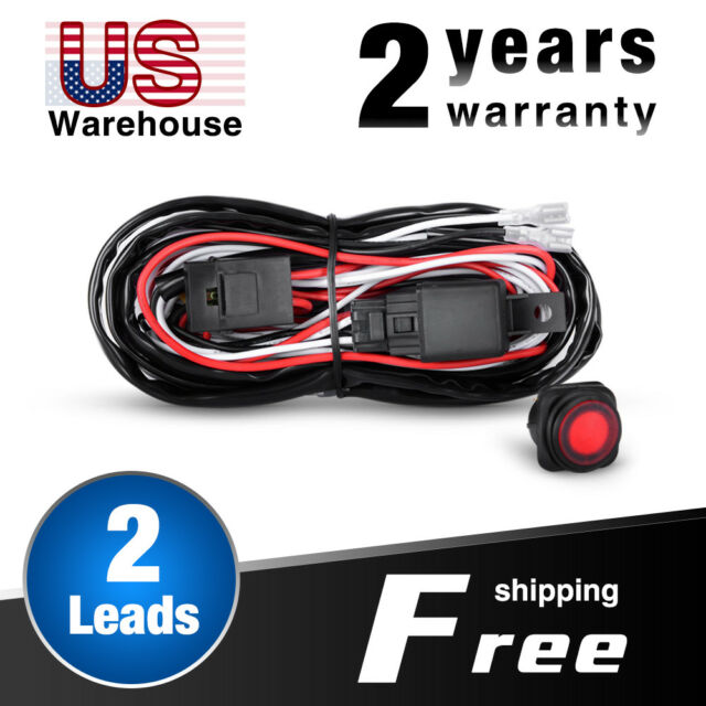 Nilight off Road ATV Jeep LED Light Bar Wiring Harness Kit 12v 40a