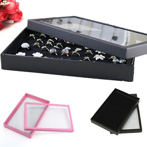 100 Slots Ring Insert Liner Storage Jewelry Show Case Box