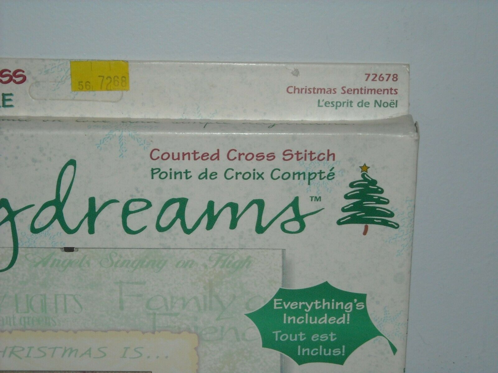 Edreams Compte Dimensions Daydreams Counted Cross Stitch Kit Christmas Sentiments
