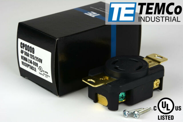 Temco NEMA L14-30 Female Receptacle 30a 125/250v Locking UL for