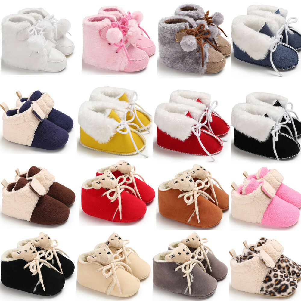 Newborn Shoes Vans Baby Girls Boys Winter Warm Boots Newborn Toddler Infant Soft Sole Shoes 8382