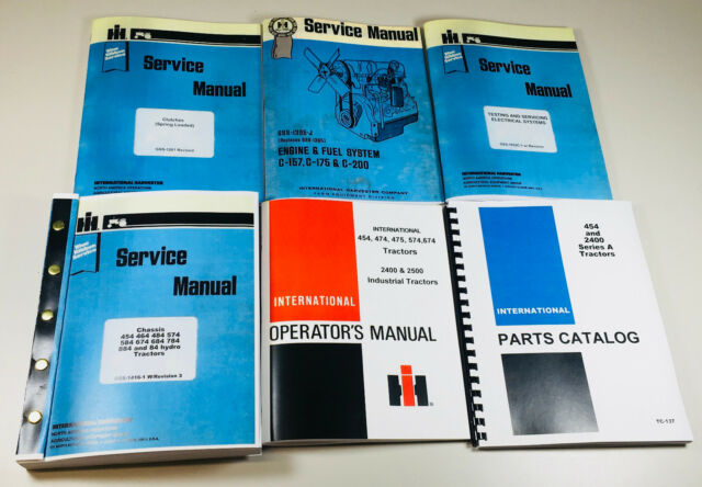 International IH 454 Tractor Engine Gas C-157 Service Operators