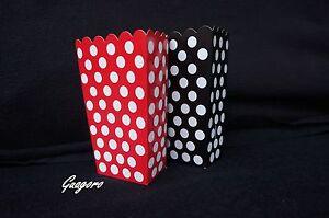 Mickey Mouse 16 Polka Dot Treat Goody Favor Popcorn Boxes