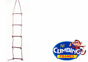 5 Rung Quality Wooden Climbing Rope Ladder Swing Set