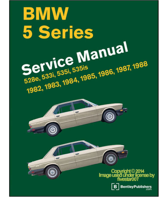 Bentley Diagram Book Repair Guide Service Manual for E28 BMW 528e