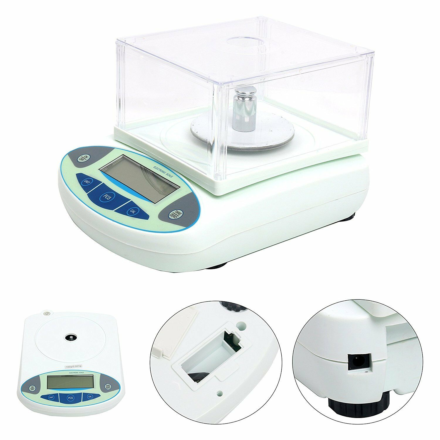 Precision Scale Lab Analytical Balance 1mg 100 X 001 G Digital Precision Scale 110v 60hz