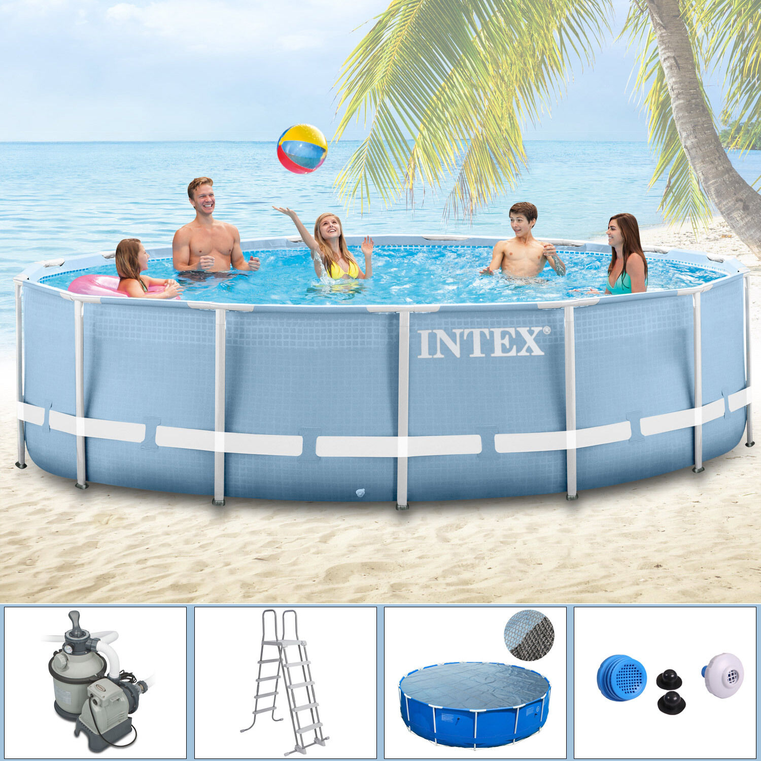 Pool Solarfolie Reinigen Intex 457x122 Komplettset Swimming Pool Kaufen Auf Ricardo Ch