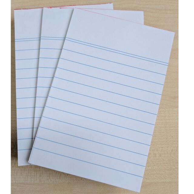8 X A6 Lined Paper Writing Pads 20 Pages Each Stationery Reporters