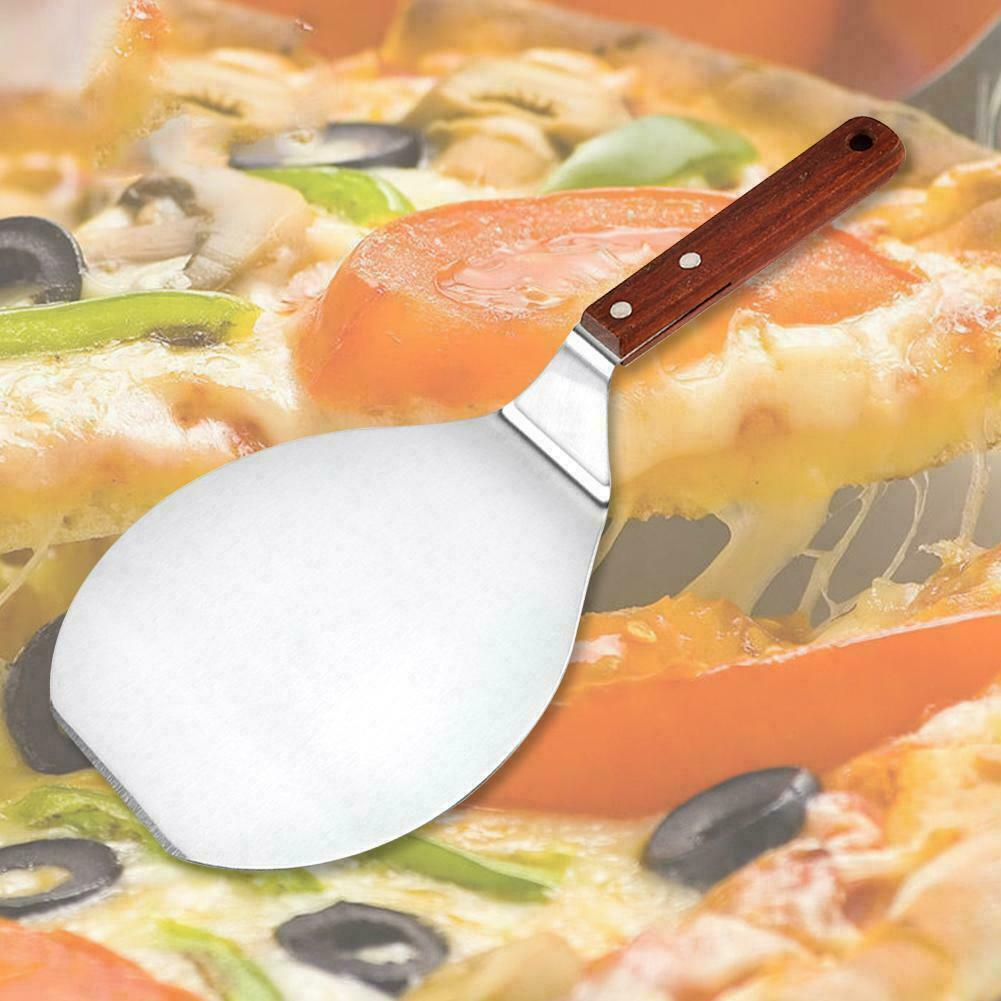 Cookware Dining Bar Kitchen Stainless Steel Pizza Spatula Pie Shovel Pancake Baking Tool Wood Handle Kisetsu System Co Jp