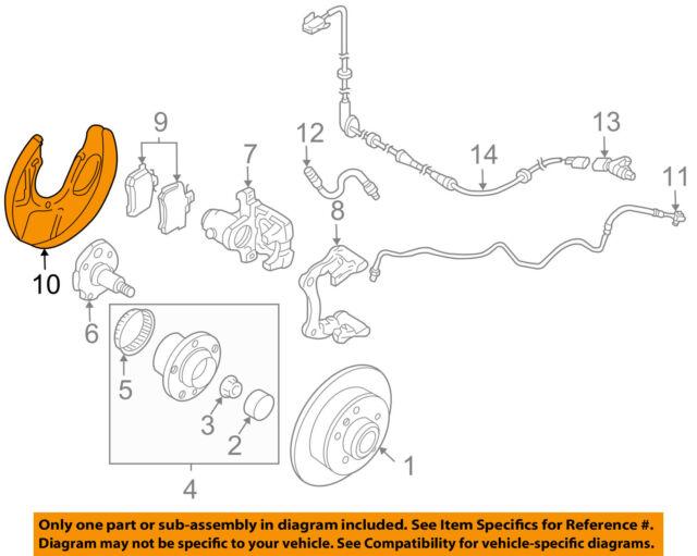 VW Volkswagen OEM 99-05 Jetta Rear Brakes-brake Backing Plate