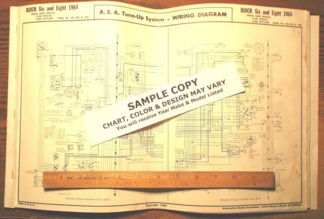 1964 Kaiser JEEP SIX Series J Models AEA Wiring Diagram 11 x 17