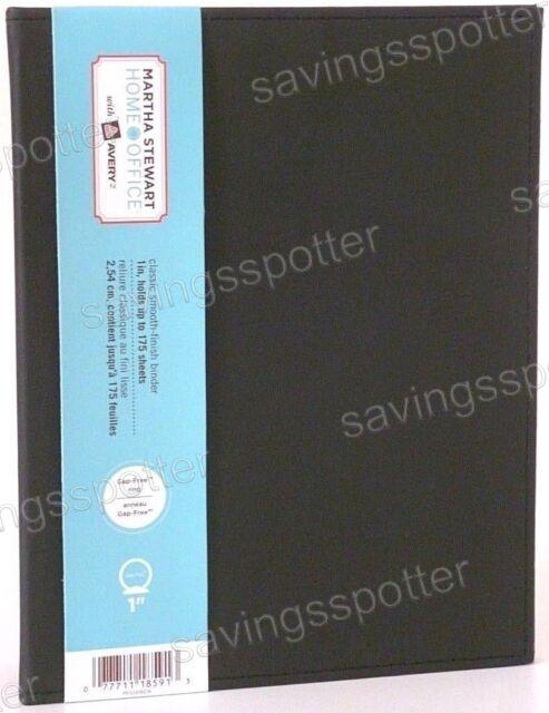 Martha Stewart Home Office Small Format Binders 1 Inch Black Model