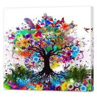 Colourful Contemporary Tree Art | Framed Ready To Hang ...