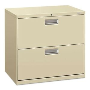 HON 2 Drawer Lateral Filing Cabinet With Lock
