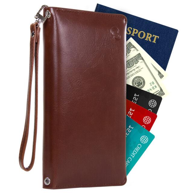 RFID Travel Wallet for Women\u0027s Passport Holder Crossbody Bag