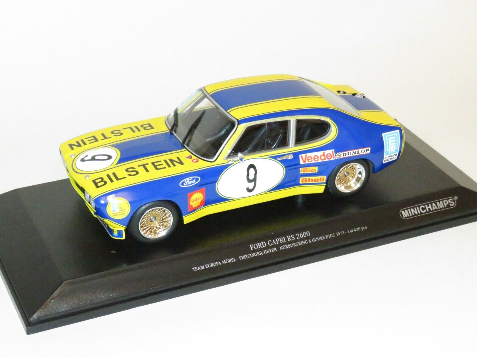 1 18 Ford Capri Rs 2600 Team Europa Mobel Etcc Nurburgring 6 Hrs 1973 For Sale Online