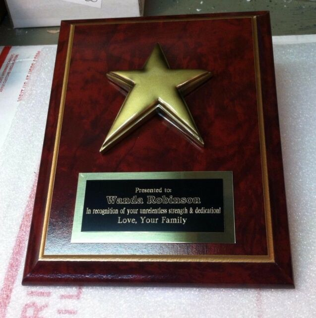 Employee of The Month Special Person Family Reunion Award Plaque