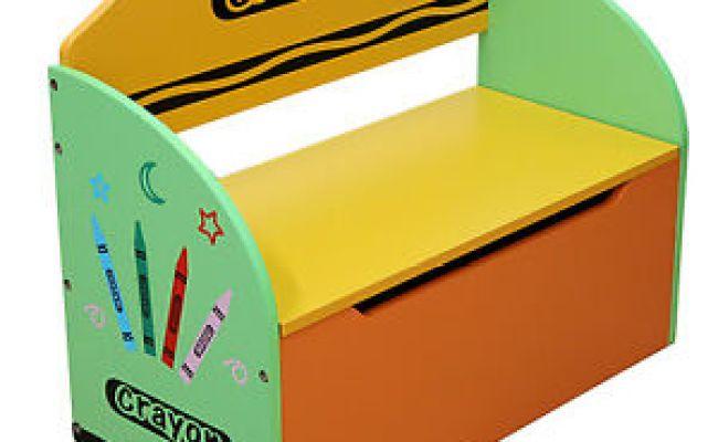 Kiddi Style Childrens Crayon Wooden Toy Box Storage Unit